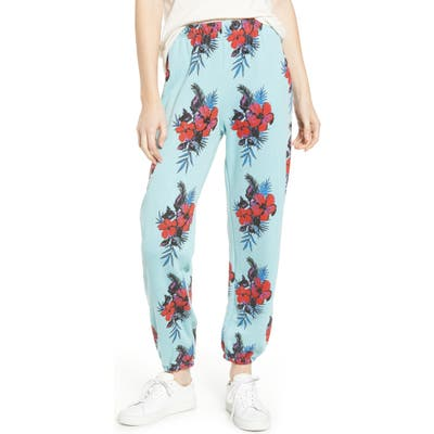 Wildfox Hibiscus Dreams Easy Sweatpants, Blue