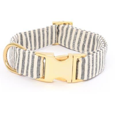 The Foggy Dog Charcoal Stripe Dog Collar, Grey