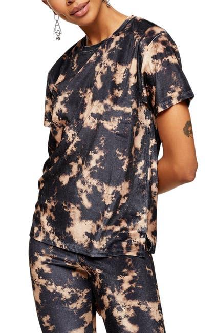 Topshop Tie Dye Velvet T Shirt Nordstrom Rack