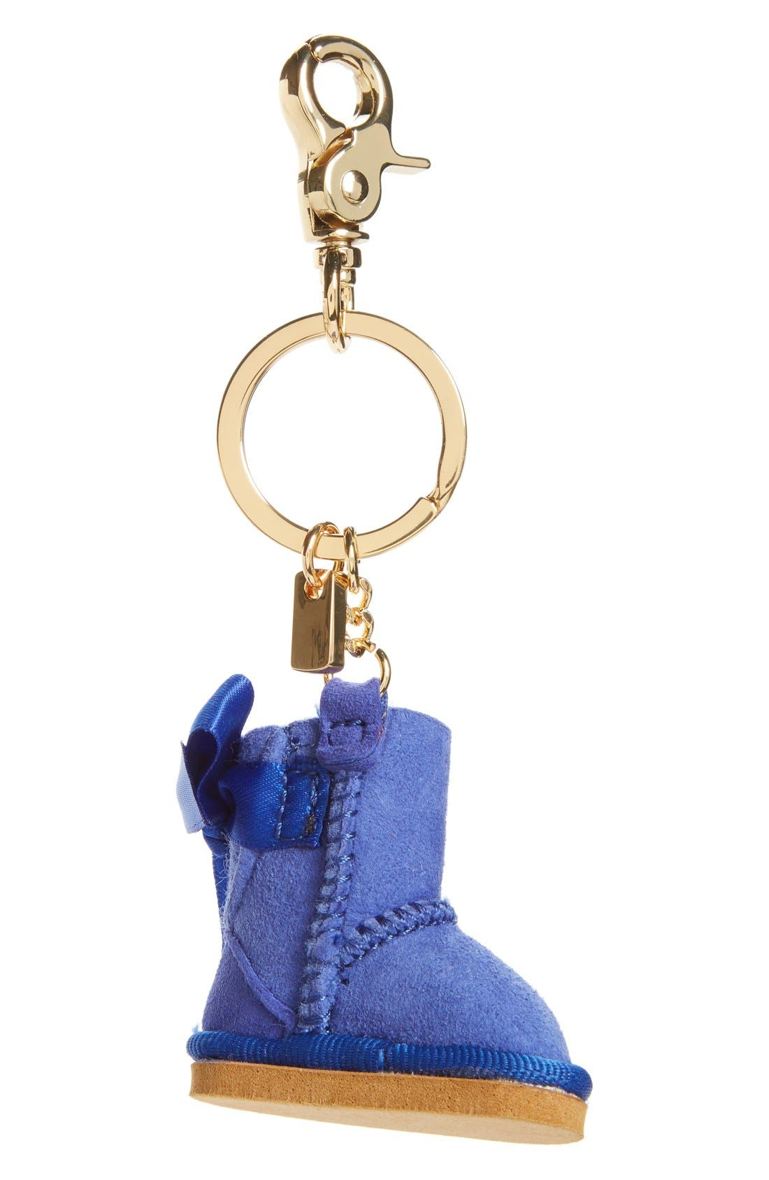 ,                             Australia 'Bailey Bow Boot' Genuine Shearling Bag Charm,                             Main thumbnail 3, color,                             426