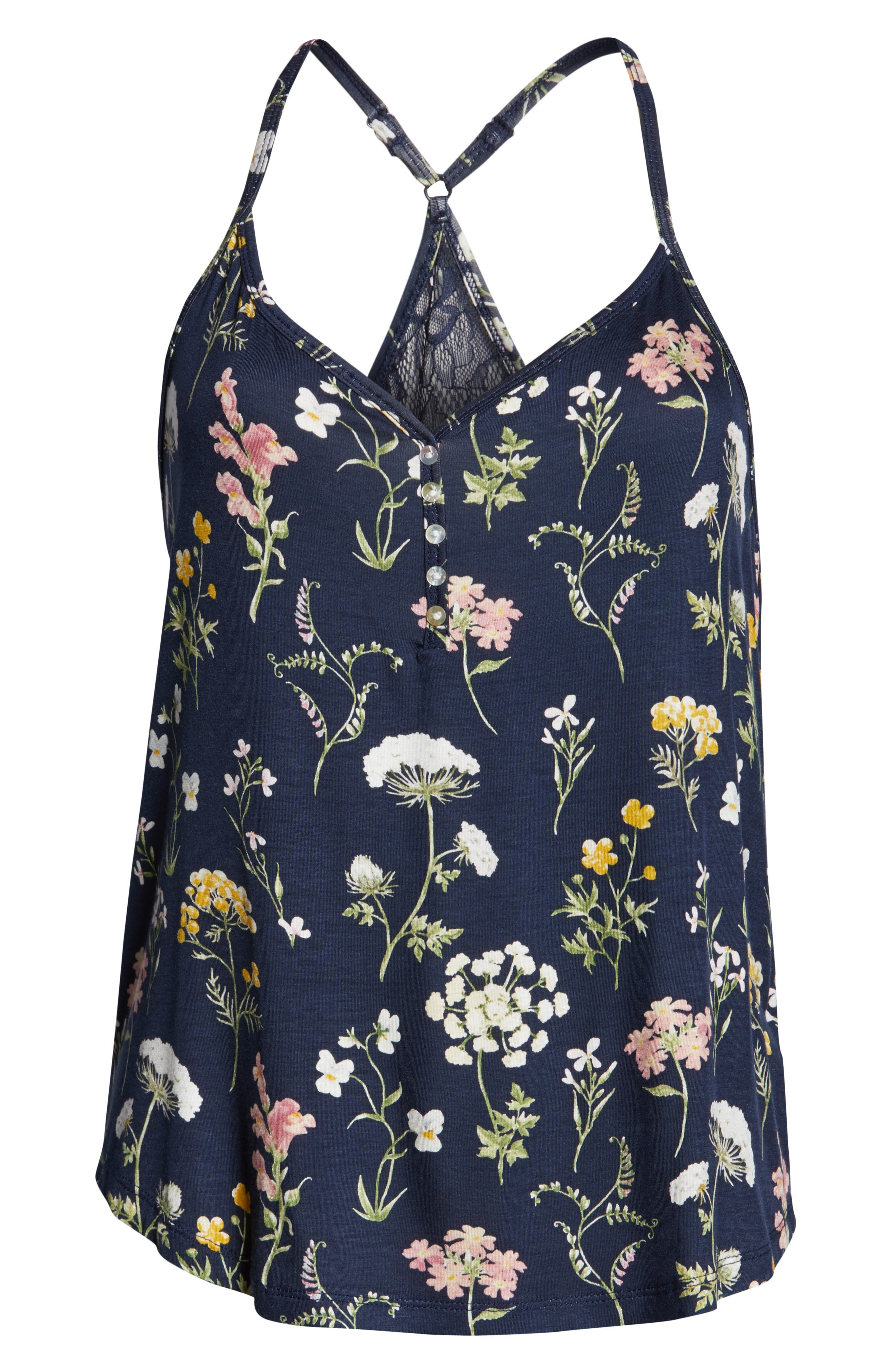 ,                             Dreams Bloom Jersey Camisole,                             Alternate thumbnail 6, color,                             MIDNIGHT BLUE
