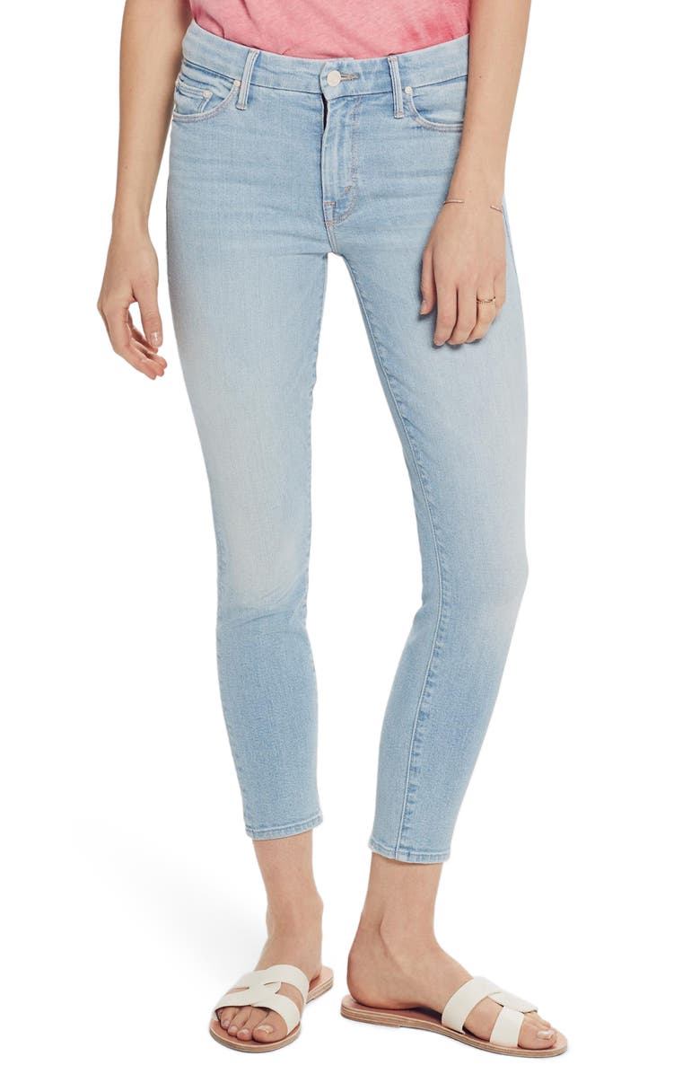 MOTHER The Looker High Waist Ankle Skinny Jeans, Main, color, 450