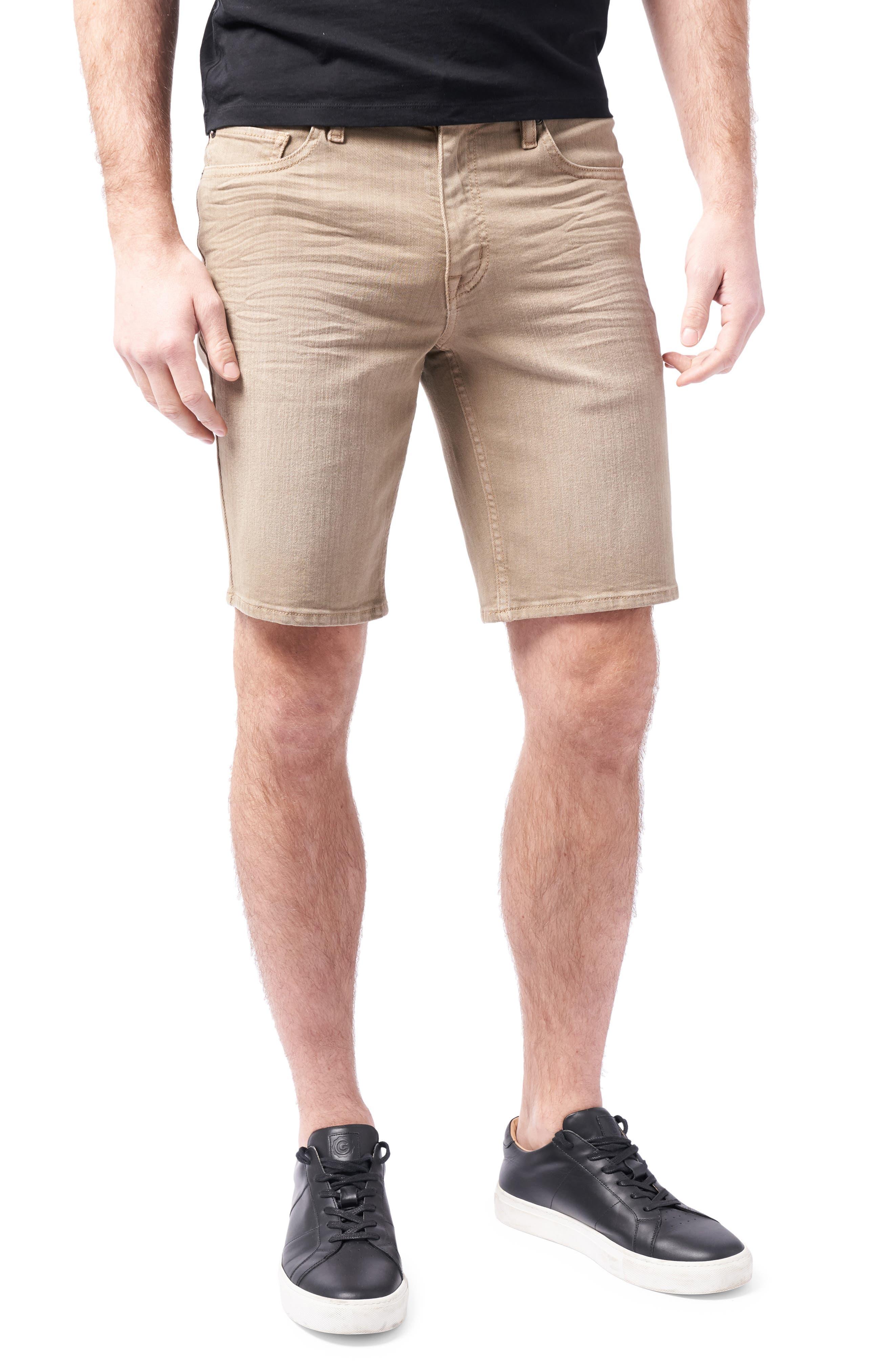 Slim Straight Leg Stretch Denim Shorts