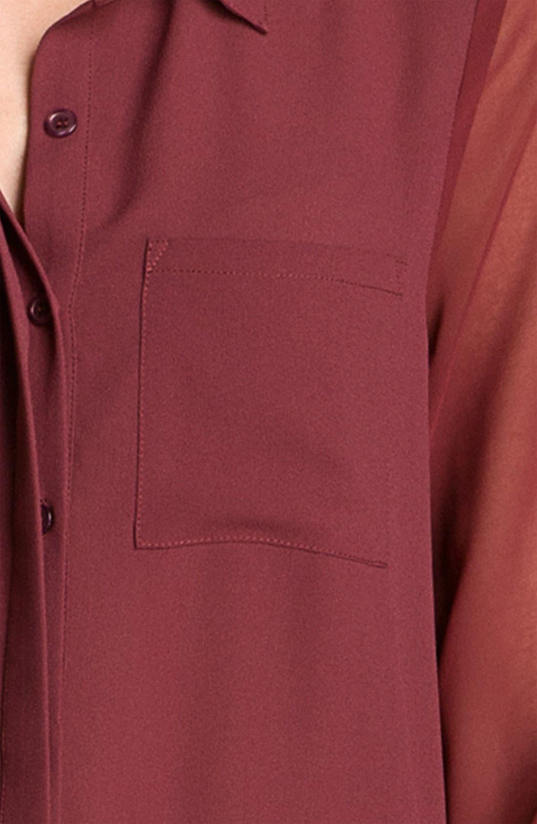 ,                             Lush Sheer Panel High/Low Shirt,                             Alternate thumbnail 26, color,                             930