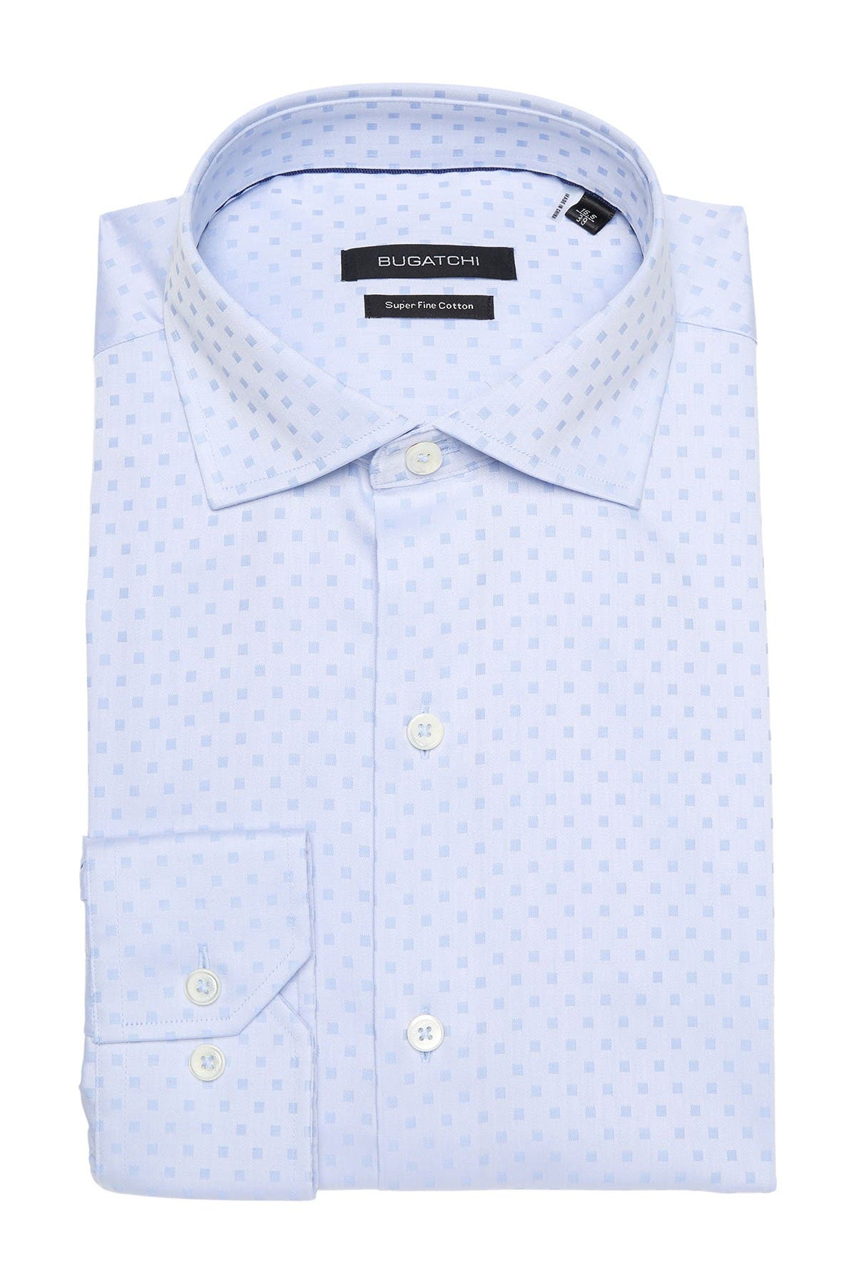 Image of Bugatchi Tonal Square Regular Fit Dress Shirt