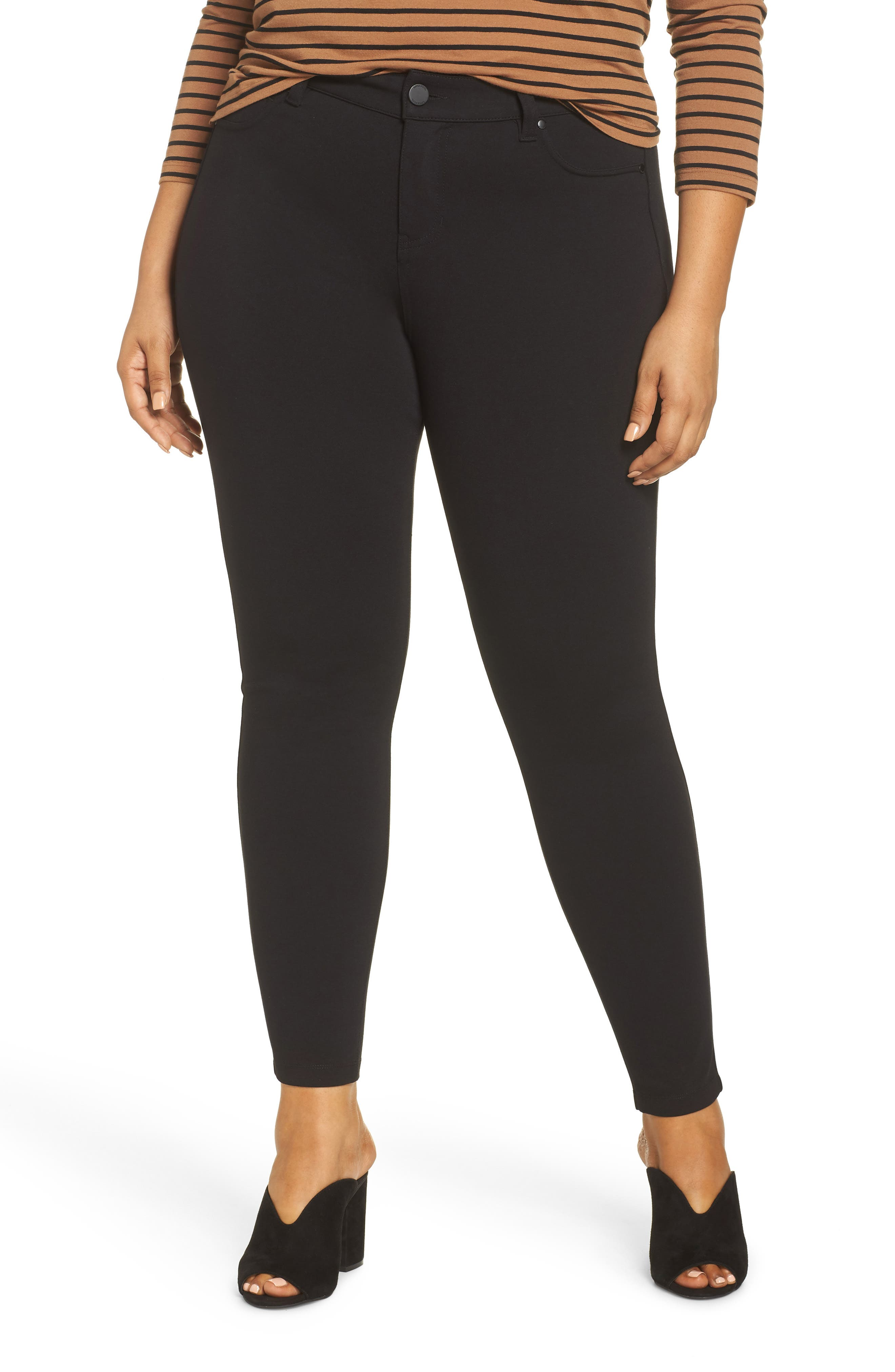 Plus Size Liverpool Madonna Leggings, Black