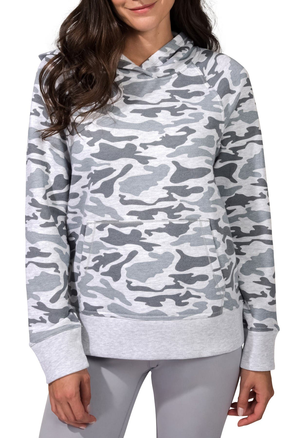 Image of 90 Degree By Reflex Patterned Hoodie