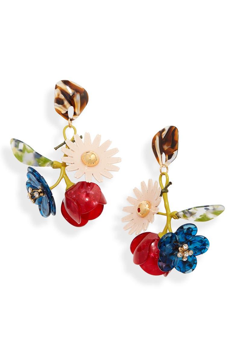 LELE SADOUGHI Rapunzel Bouquet Drop Earrings, Main, color, FIRE DRAGON BLUE