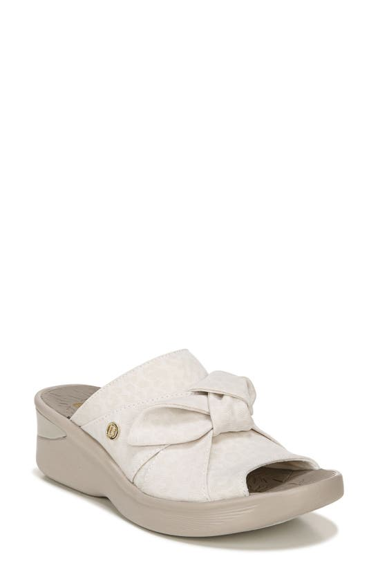 Bzees Smile Washable Slip-on Sandals Women's Shoes In Cream Fabric