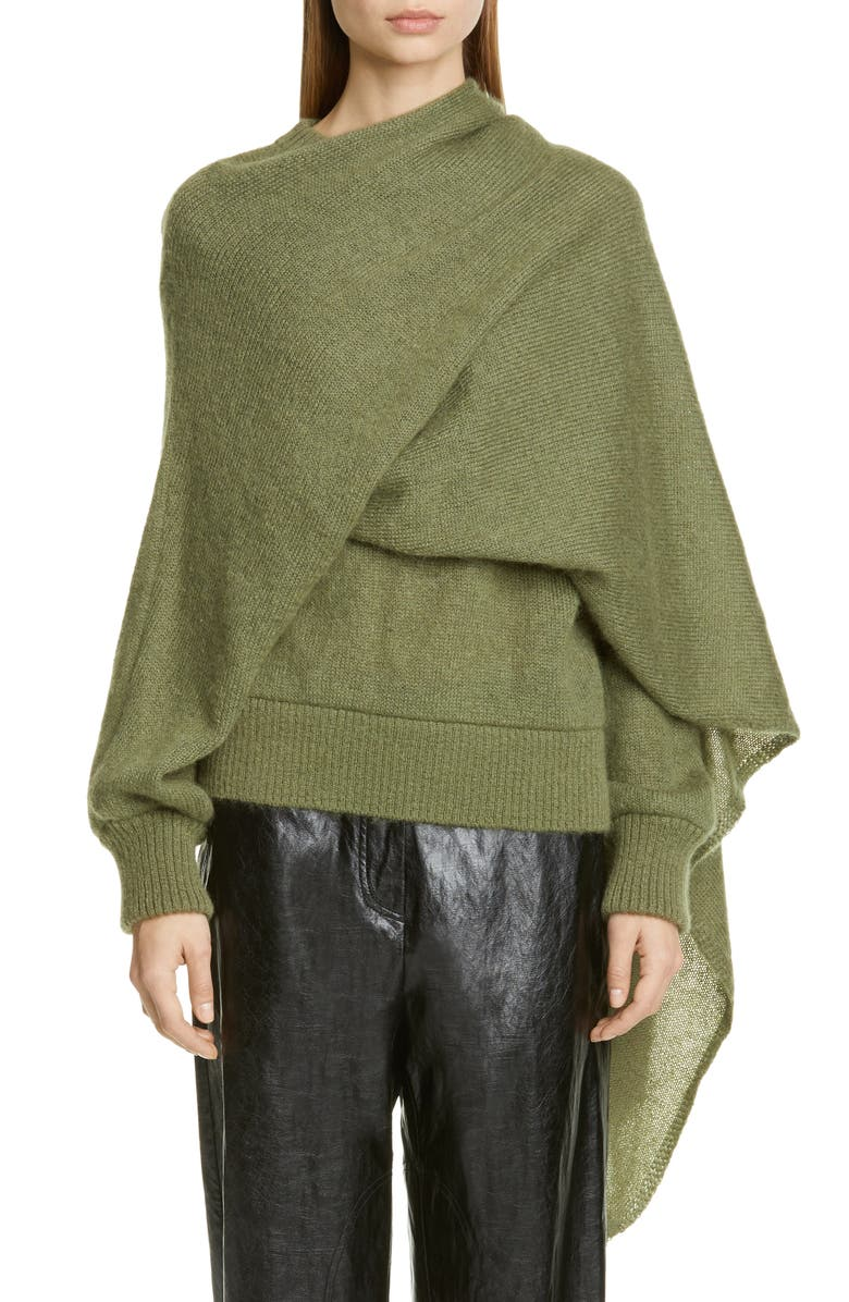 REJINA PYO Colette Mohair Blend Sweater, Main, color, MOSS GREEN