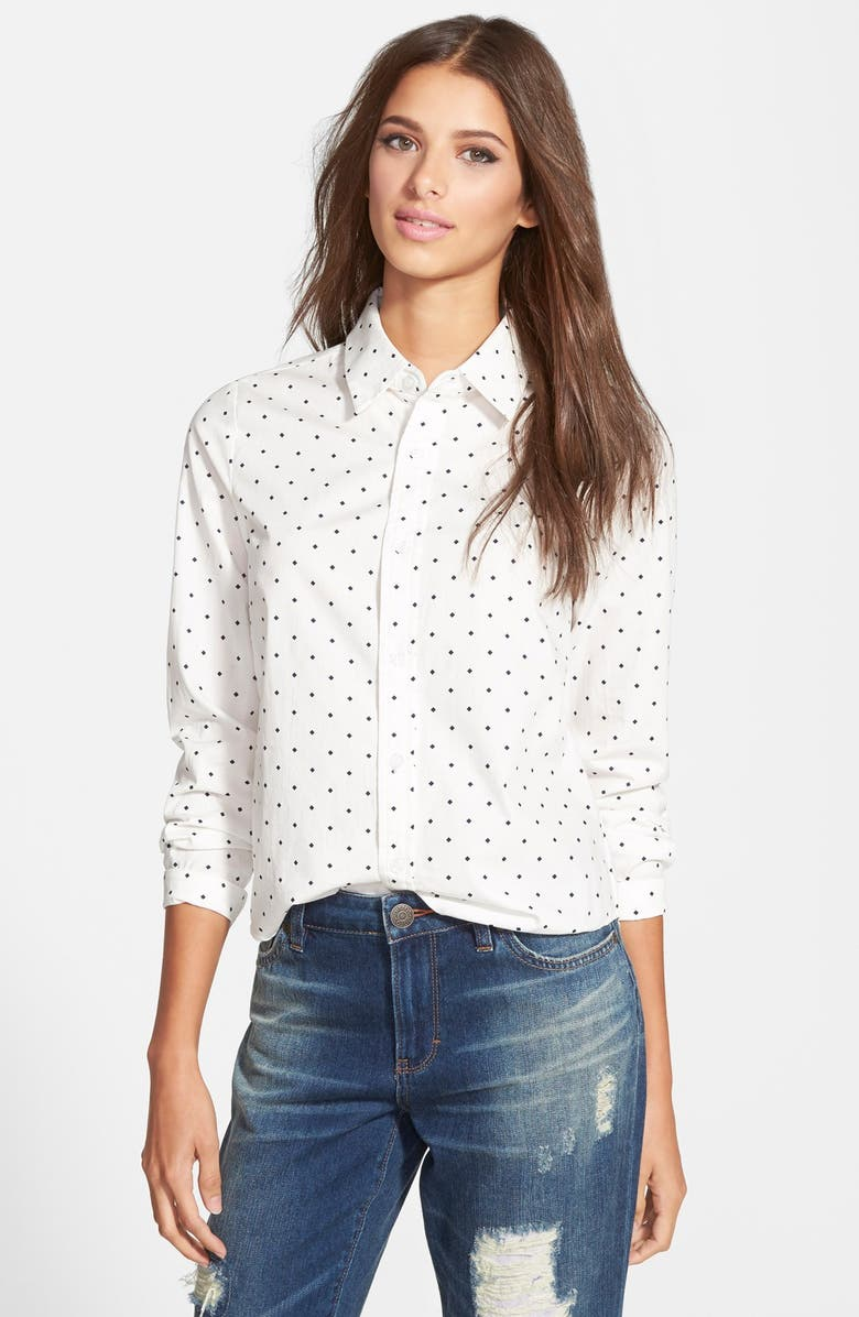 RE:NAMED Button Front Blouse, Main, color, 100
