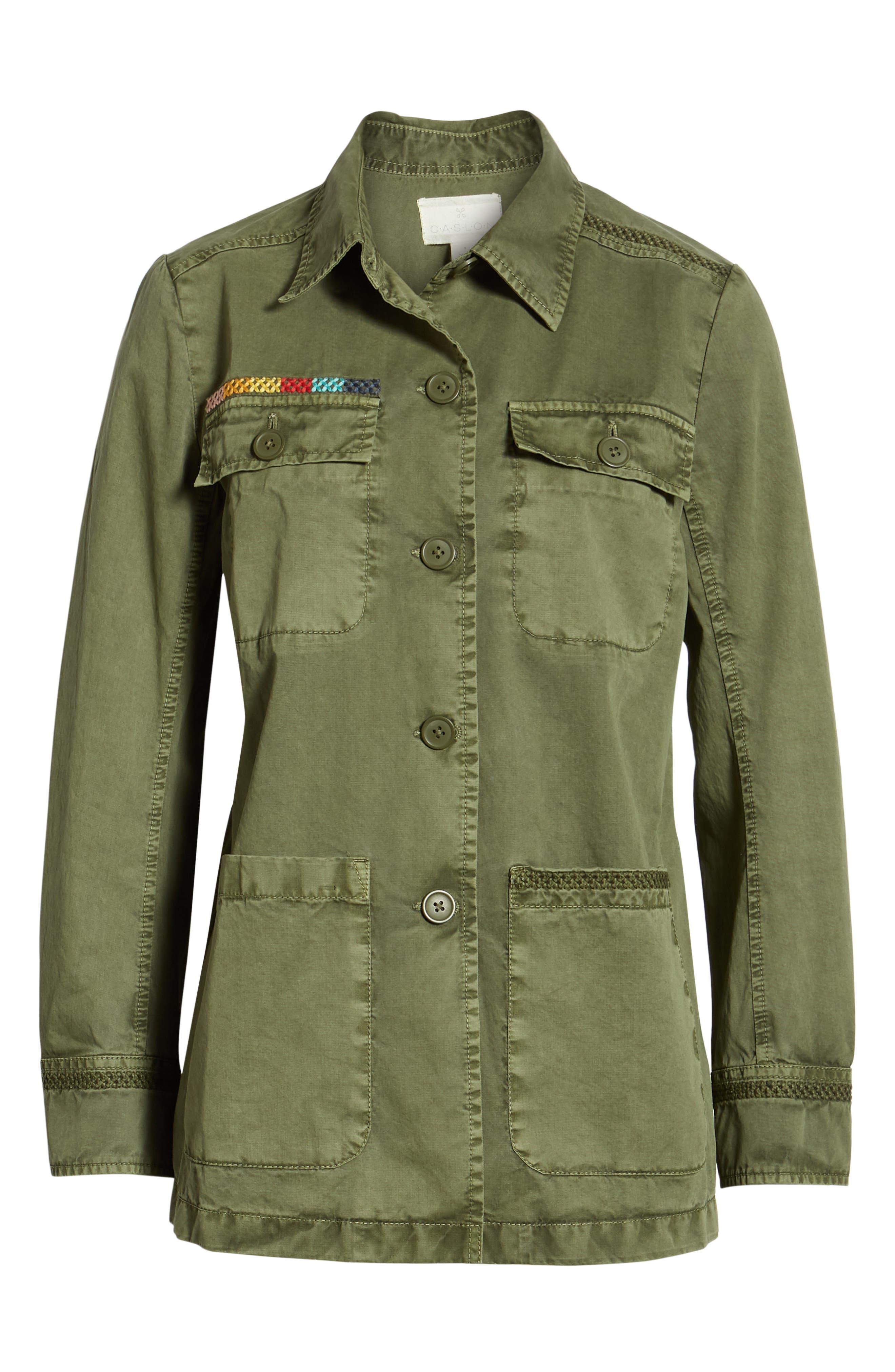 ,                             Utility Jacket,                             Alternate thumbnail 7, color,                             GREEN BEETLE