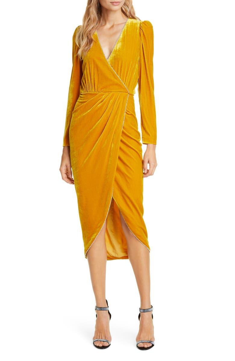 VERONICA BEARD Anthea Long Sleeve Velvet Dress, Main, color, 750