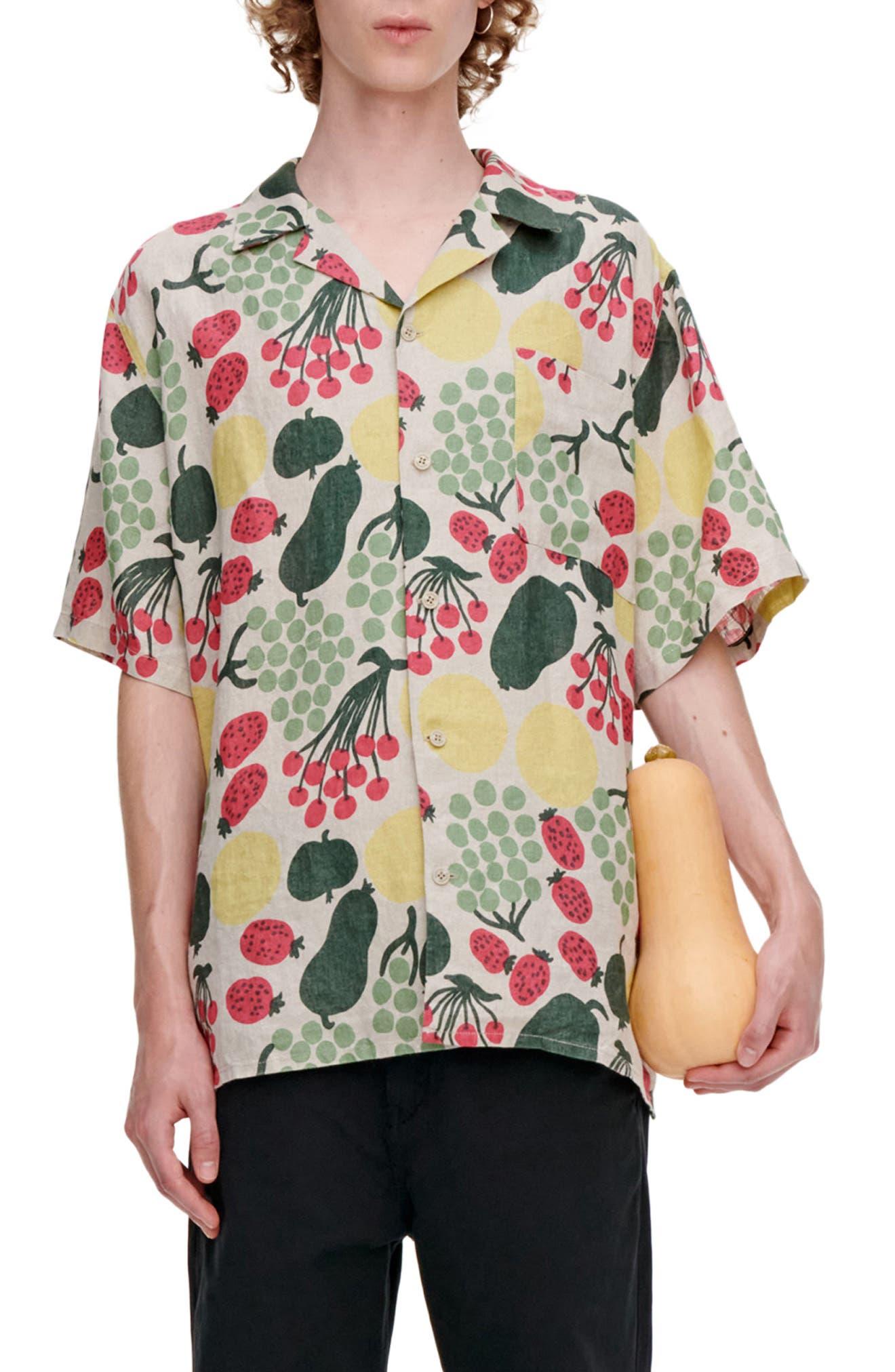 Kalliolla Pieni Tori Linen Button-Up Shirt