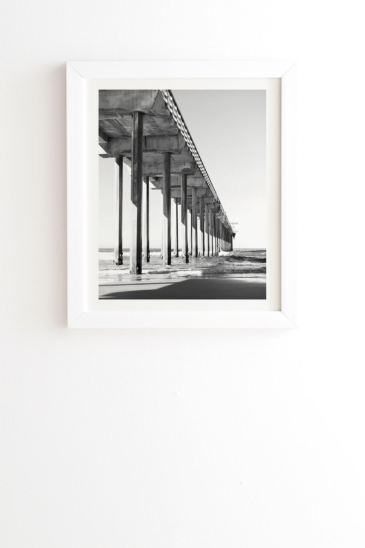 Image of Deny Designs Bree Madden The Pier White Framed Art