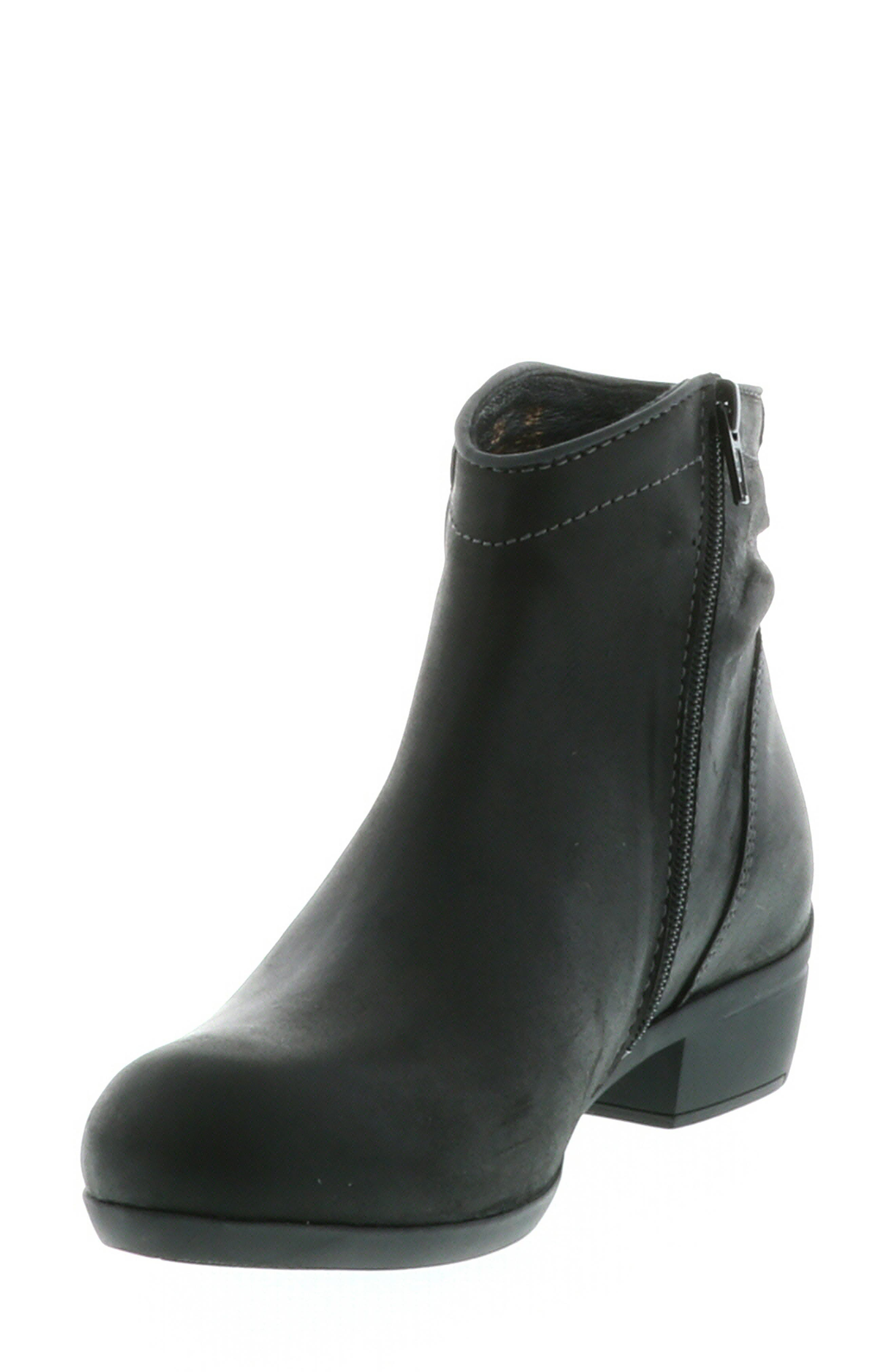 ,                             Winchester Bootie,                             Alternate thumbnail 8, color,                             BLACK/ BLACK LEATHER