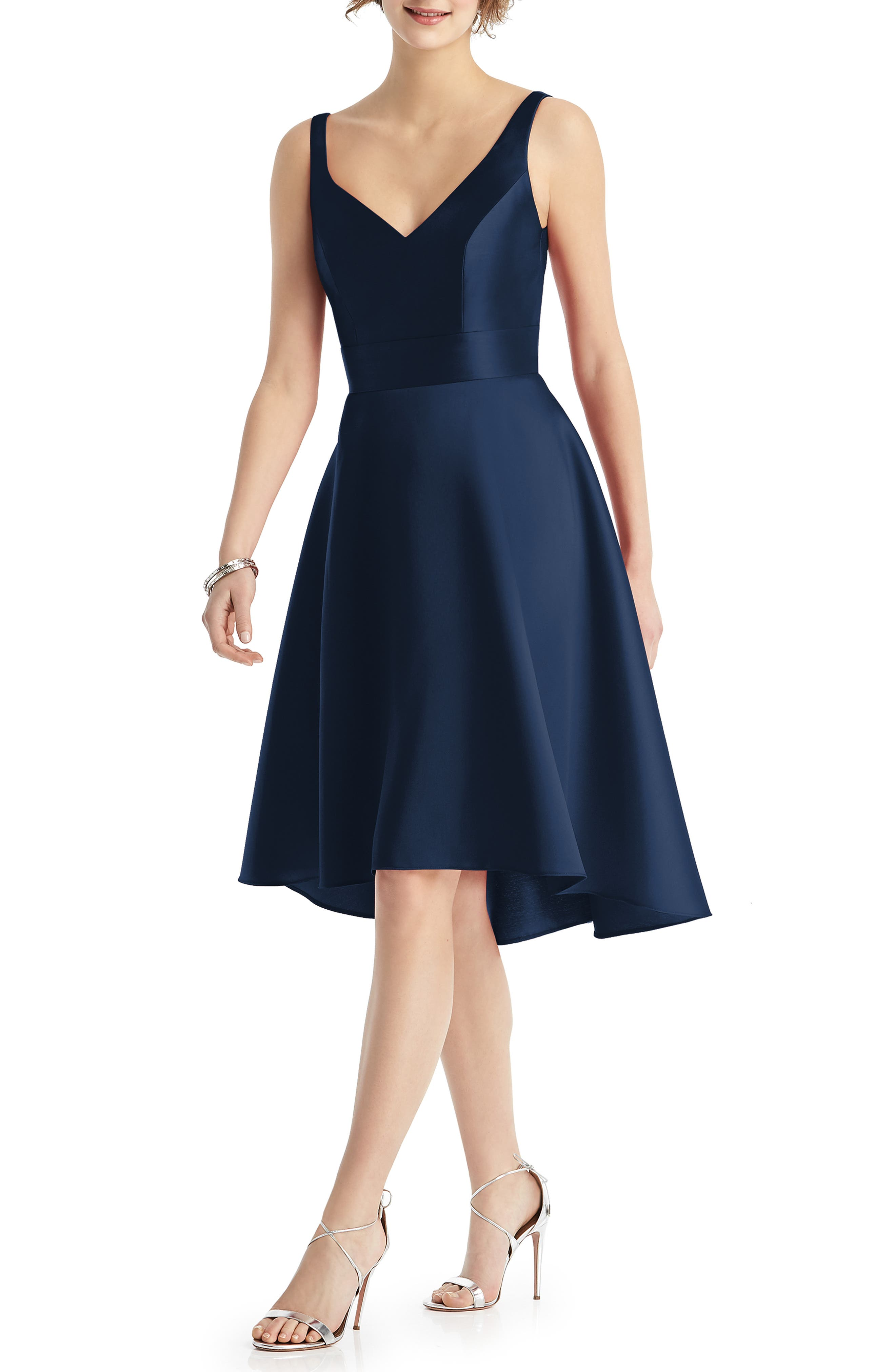Alfred Sung Sweetheart Neck Sleeveless Cocktail Dress, Blue
