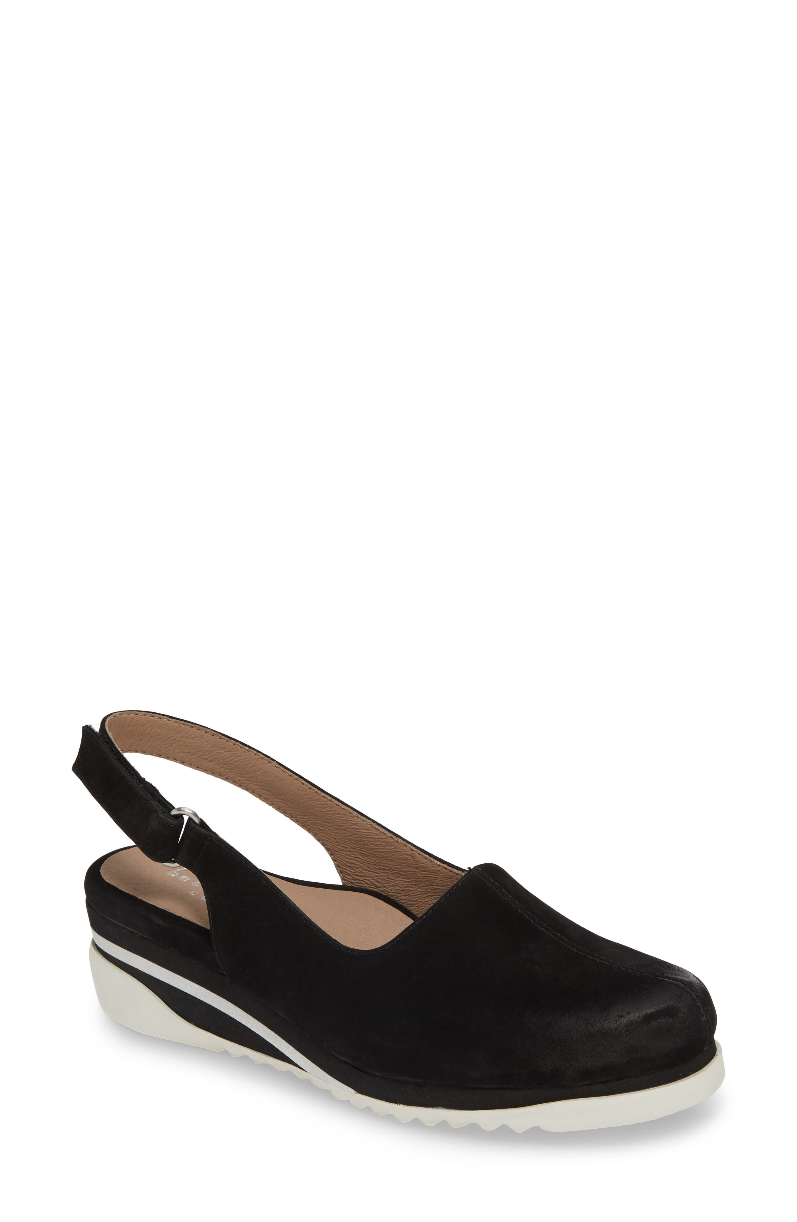 Image of BETTYE MULLER CONCEPTS Taye Leather Slingback Wedge