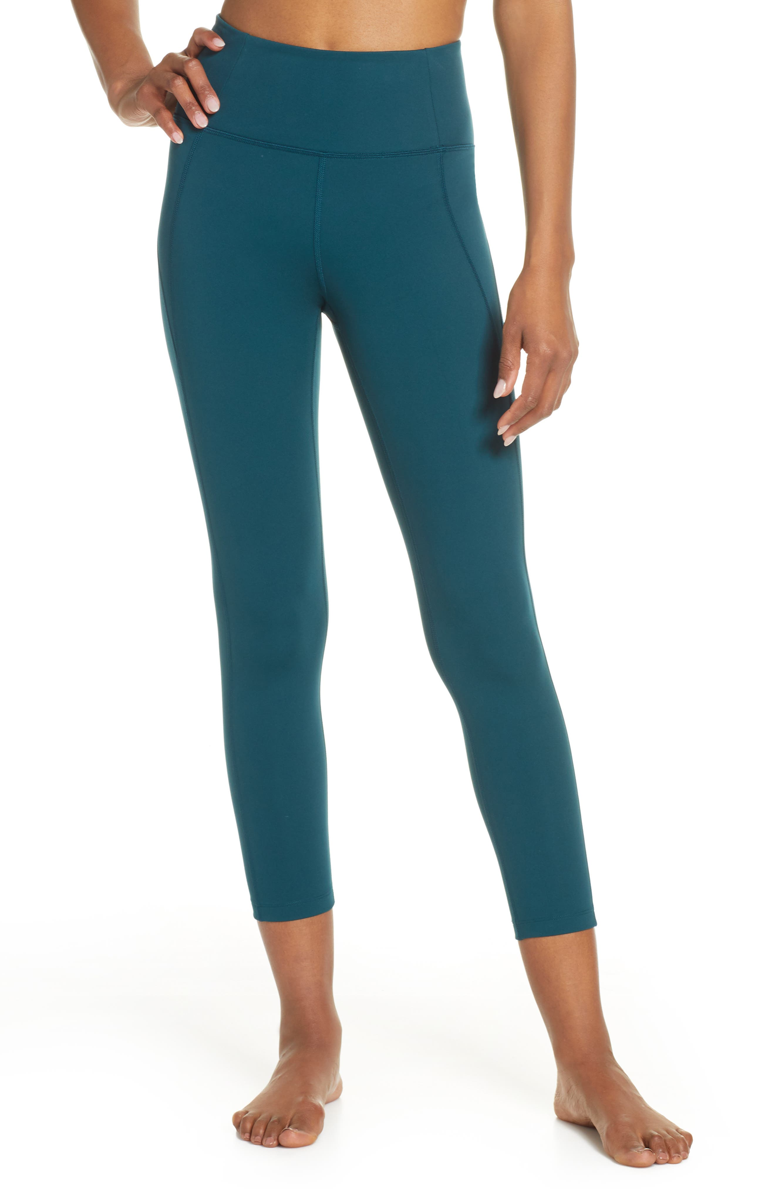 Girlfriend Collective High Waist 7/8 Leggings, Green