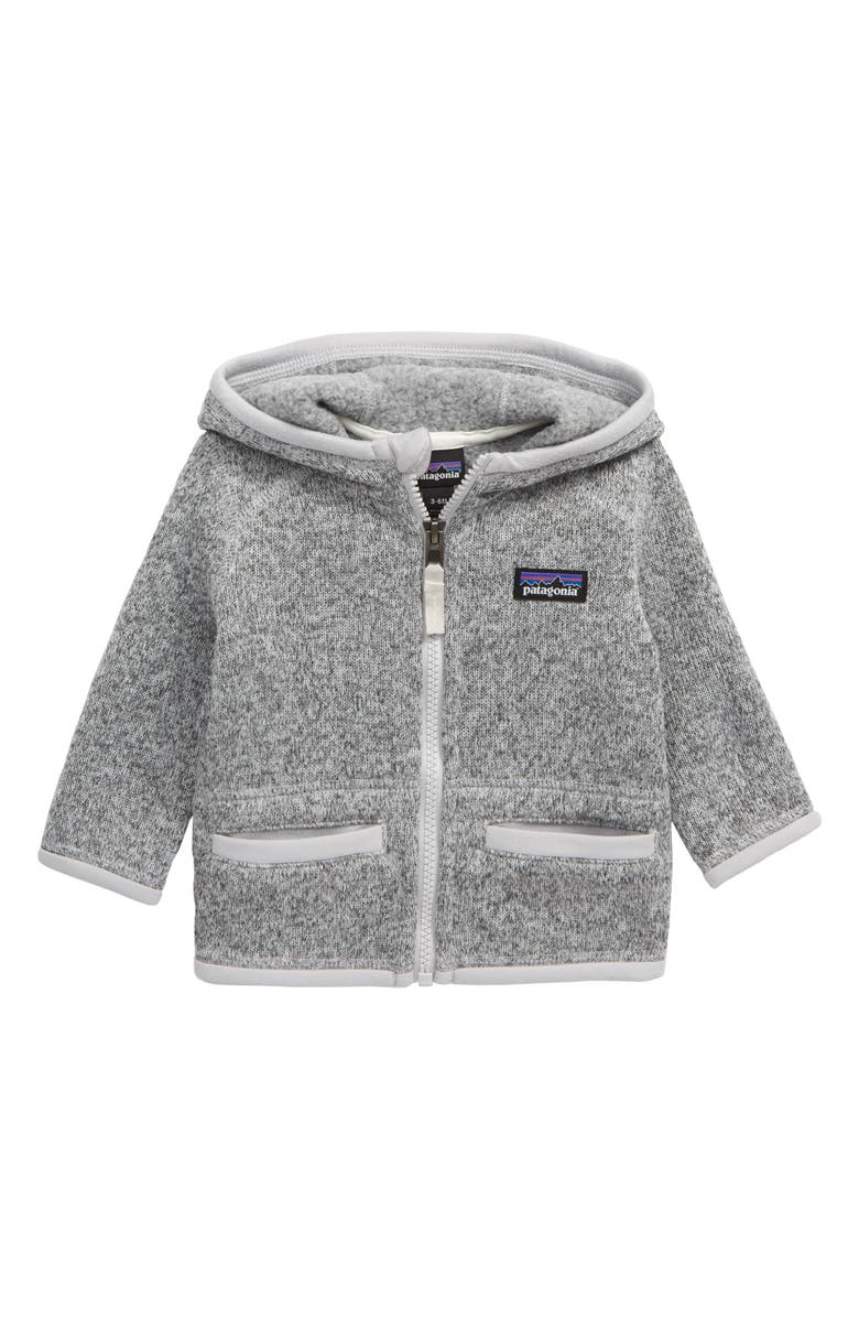 PATAGONIA Better Sweater<sup>®</sup> Recycled Fleece Hooded Jacket, Main, color, BIRCH WHITE