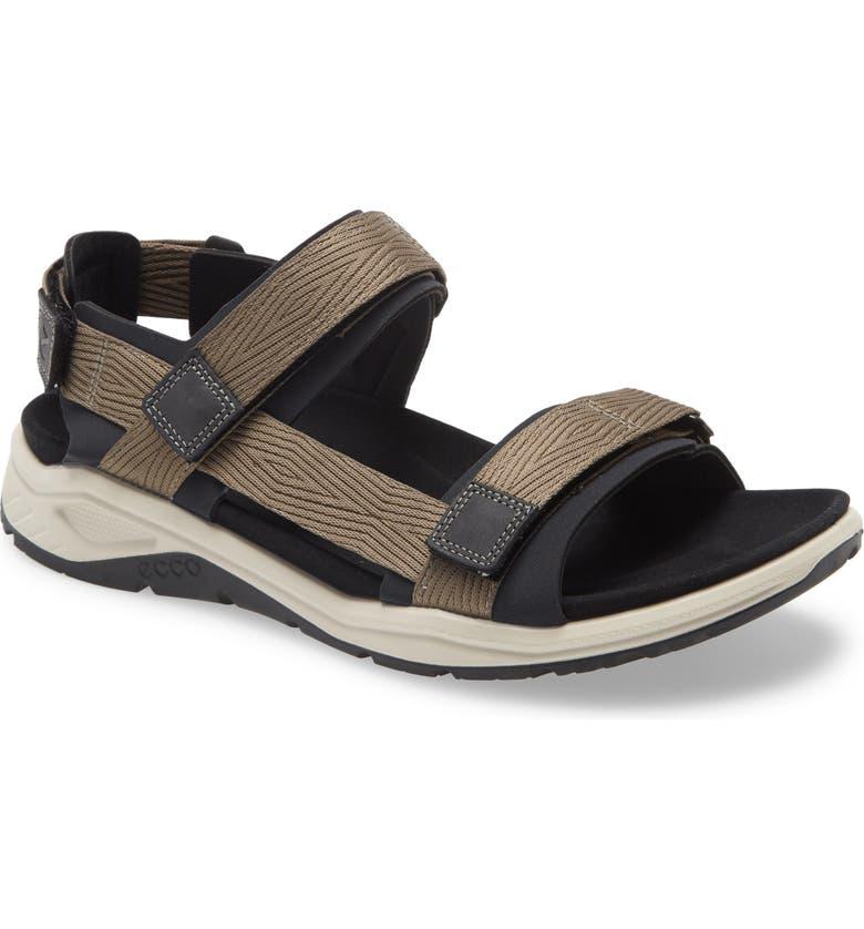 ECCO X-Trinsic Sandal, Main, color, BLACK/ WARM GREY