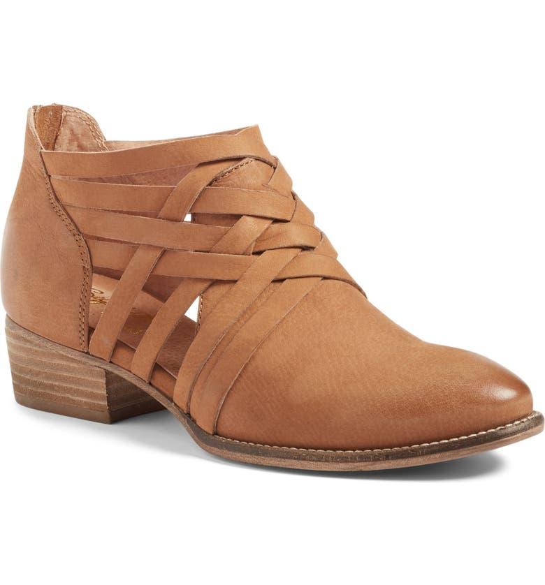 SEYCHELLES So Blue Cutout Bootie, Main, color, COGNAC LEATHER