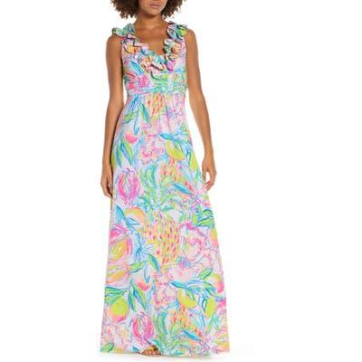 Lilly Pulitzer Leena Ruffle Maxi Dress, Pink