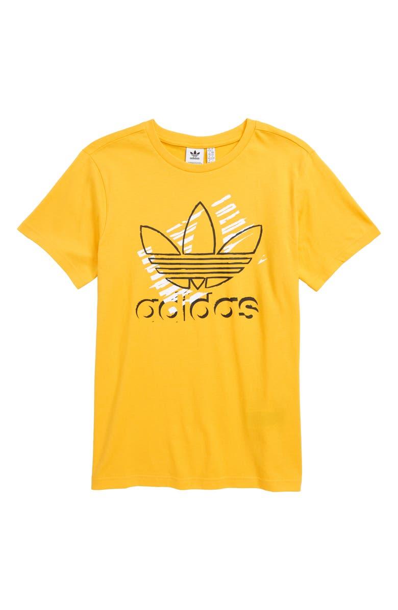 ADIDAS ORIGINALS Trefoil Art T-Shirt, Main, color, BOLD GOLD
