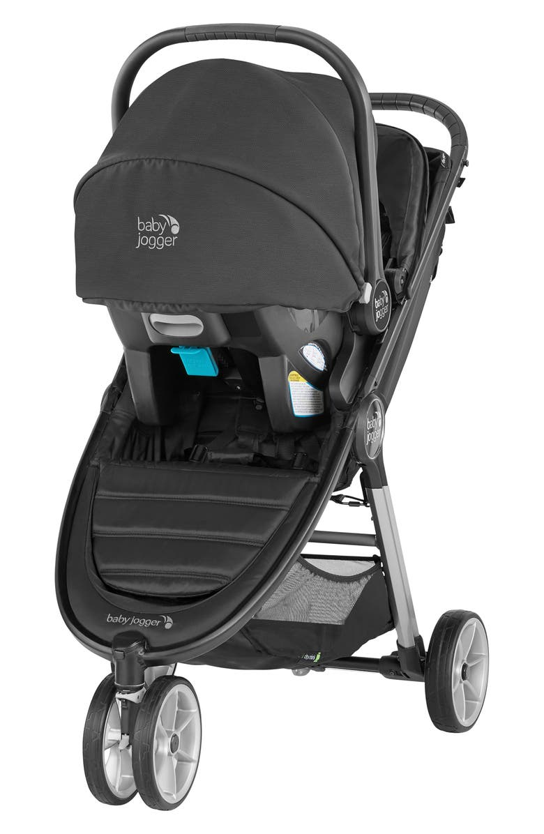 BABY JOGGER City Mini<sup>®</sup> 2 Stroller & City Go Infant Car Seat Travel System, Main, color, JET