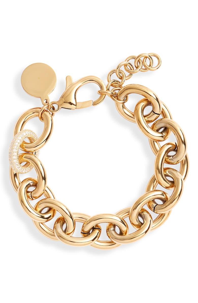 KNOTTY Chunky Chain Bracelet, Main, color, GOLD