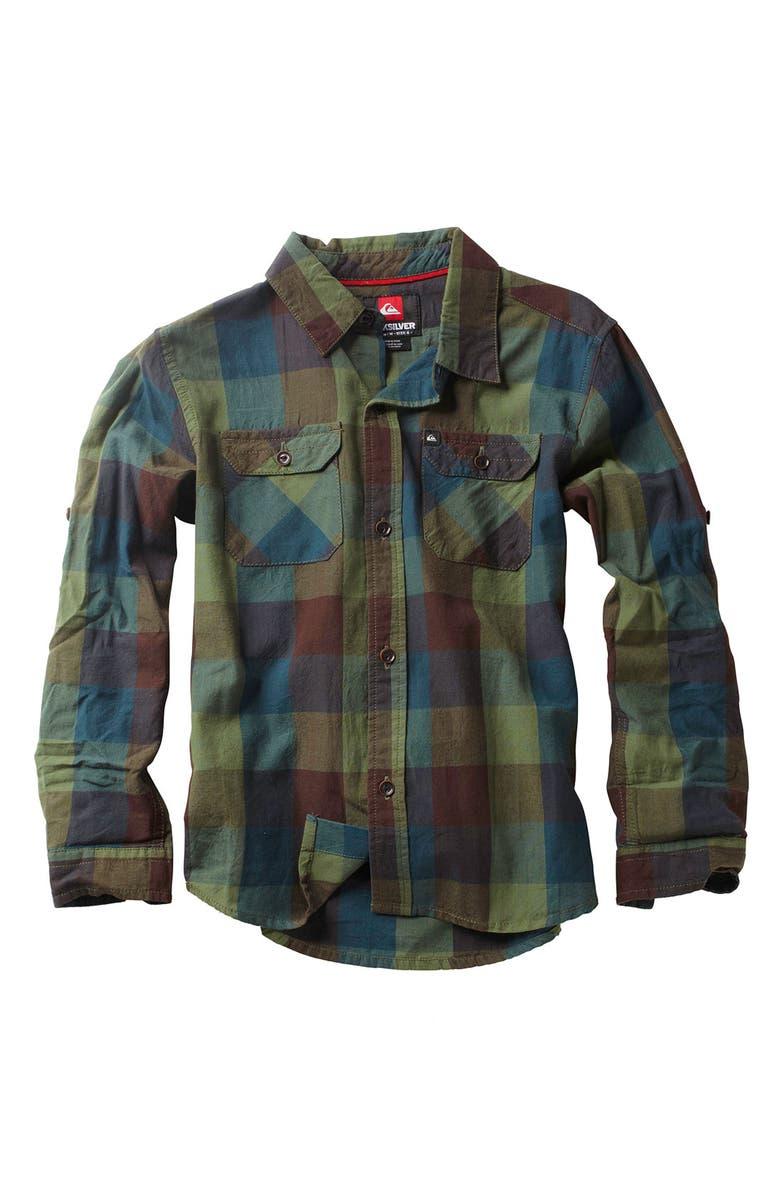 QUIKSILVER 'Double Rainbow' Woven Shirt, Main, color, 300