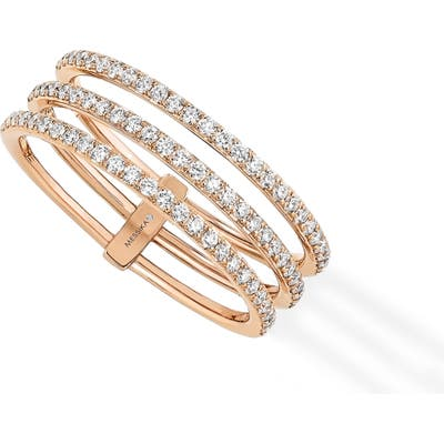 Messika Gatsby 3-Row Diamond Ring