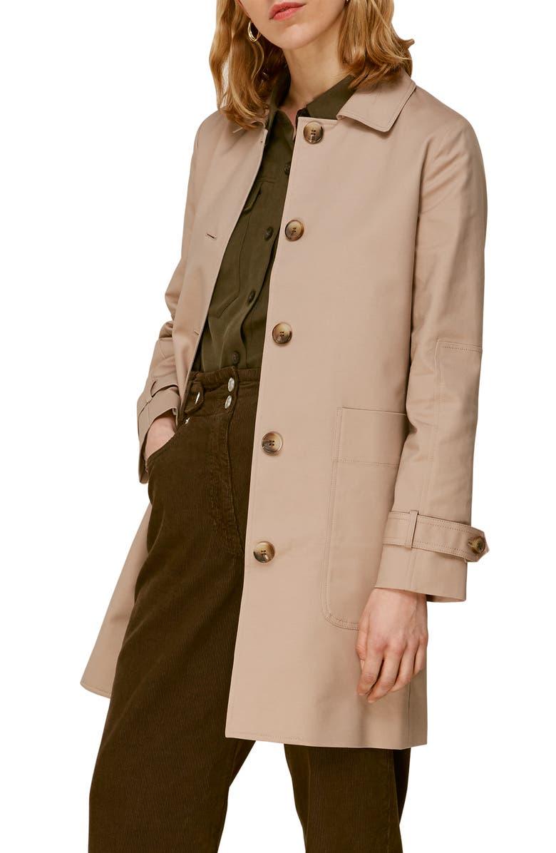 WHISTLES Car Coat, Main, color, NEUTRAL