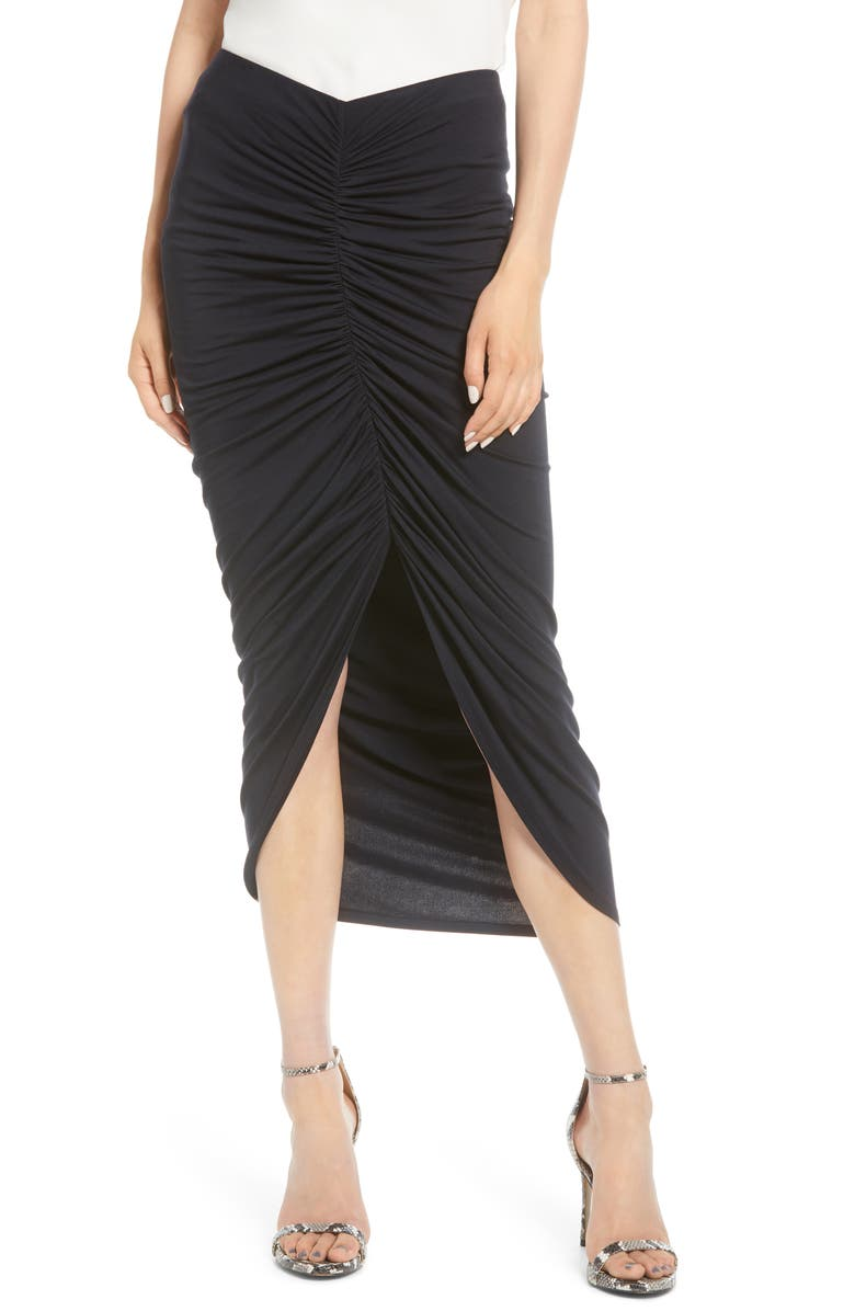 BAILEY 44 Santorini Ruched Front Skirt, Main, color, 408