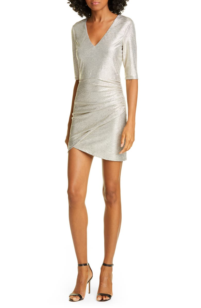 ALICE + OLIVIA Judy Ruched Cocktail Dress, Main, color, 066