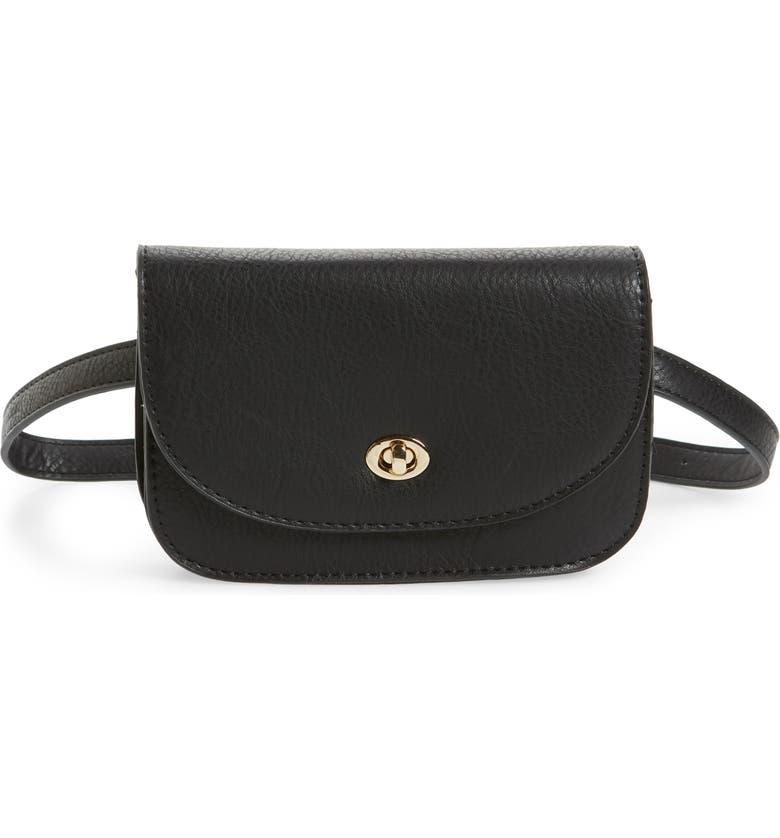 SOLE SOCIETY Georgia Belt Bag, Main, color, BLACK