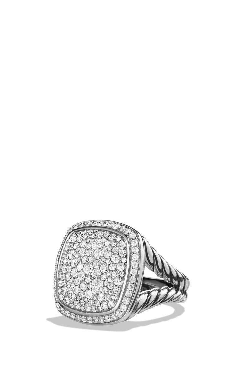 DAVID YURMAN Albion Ring with Diamonds, Main, color, DIAMOND