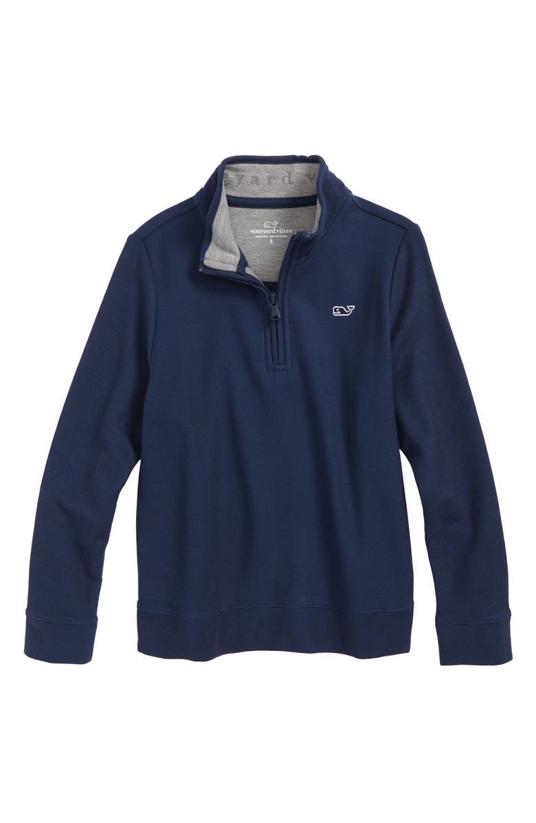 VINEYARD VINES Quarter Zip Sweater, Main, color, VINEYARD NAVY