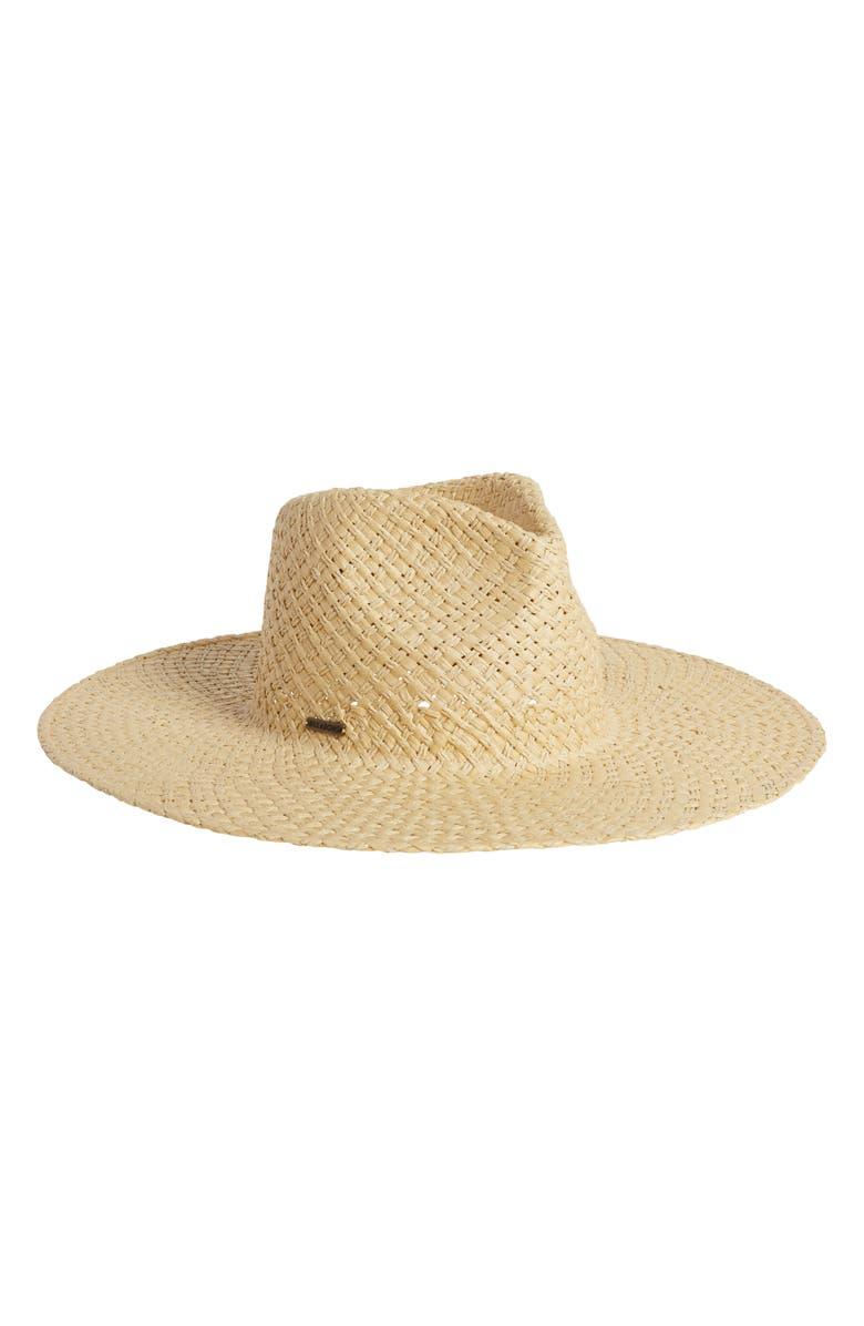 BILLABONG x The Salty Blonde Sun Rays Straw Fedora, Main, color, NATURAL