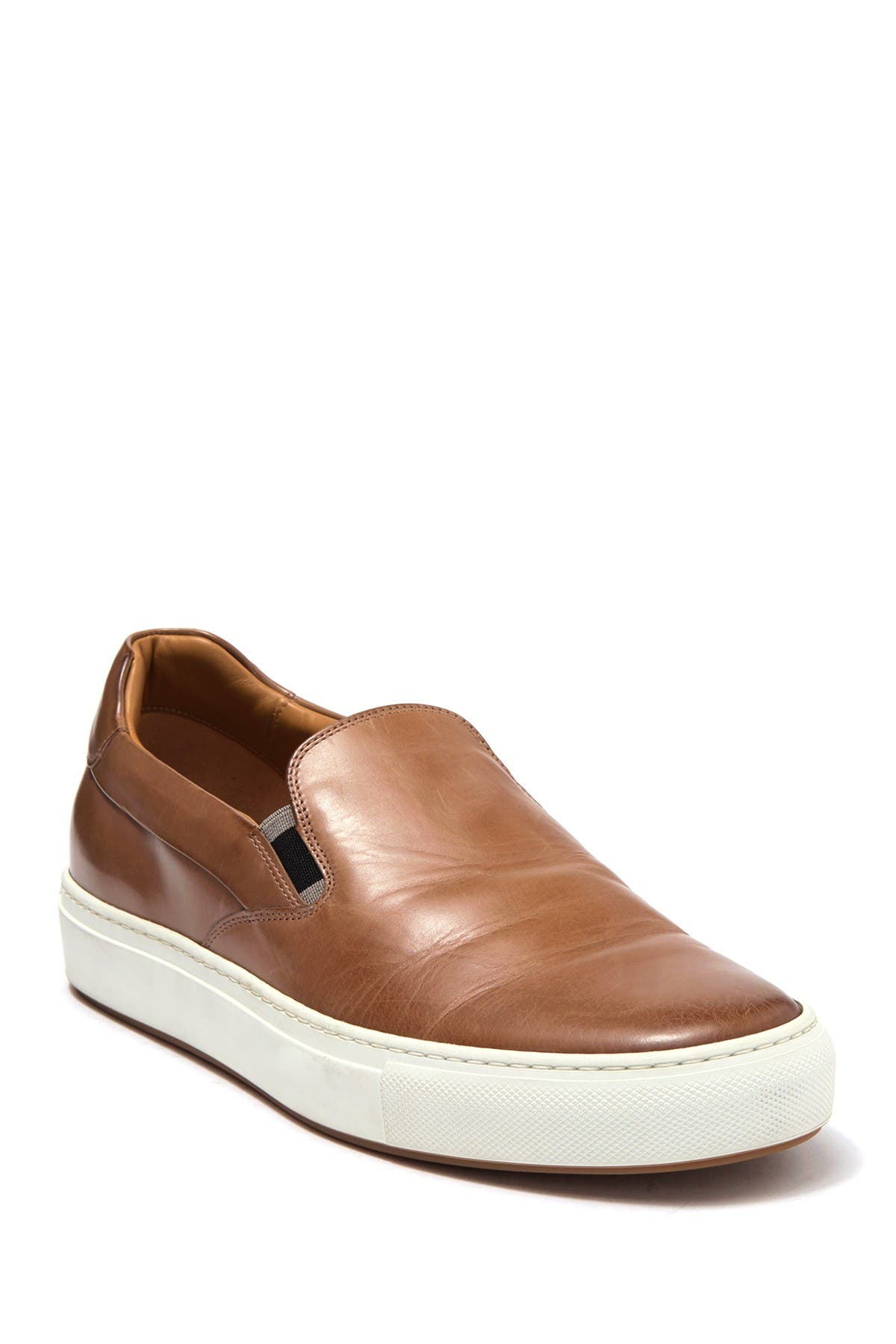 Image of BOSS Mirage Leather Slip-On Sneaker