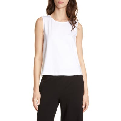 Eileen Fisher Stretch Cotton Shell, White