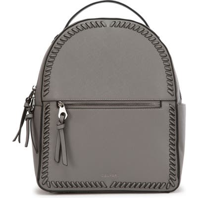 Calpak Kaya Faux Leather Round Backpack - Grey