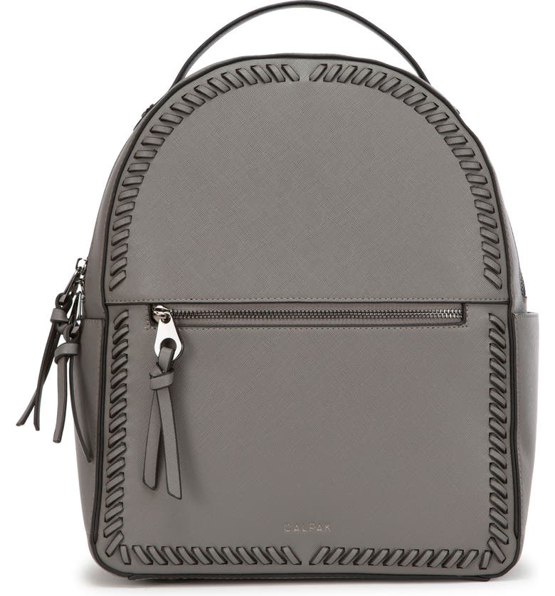 CALPAK Kaya Faux Leather Round Backpack, Main, color, CHARCOAL