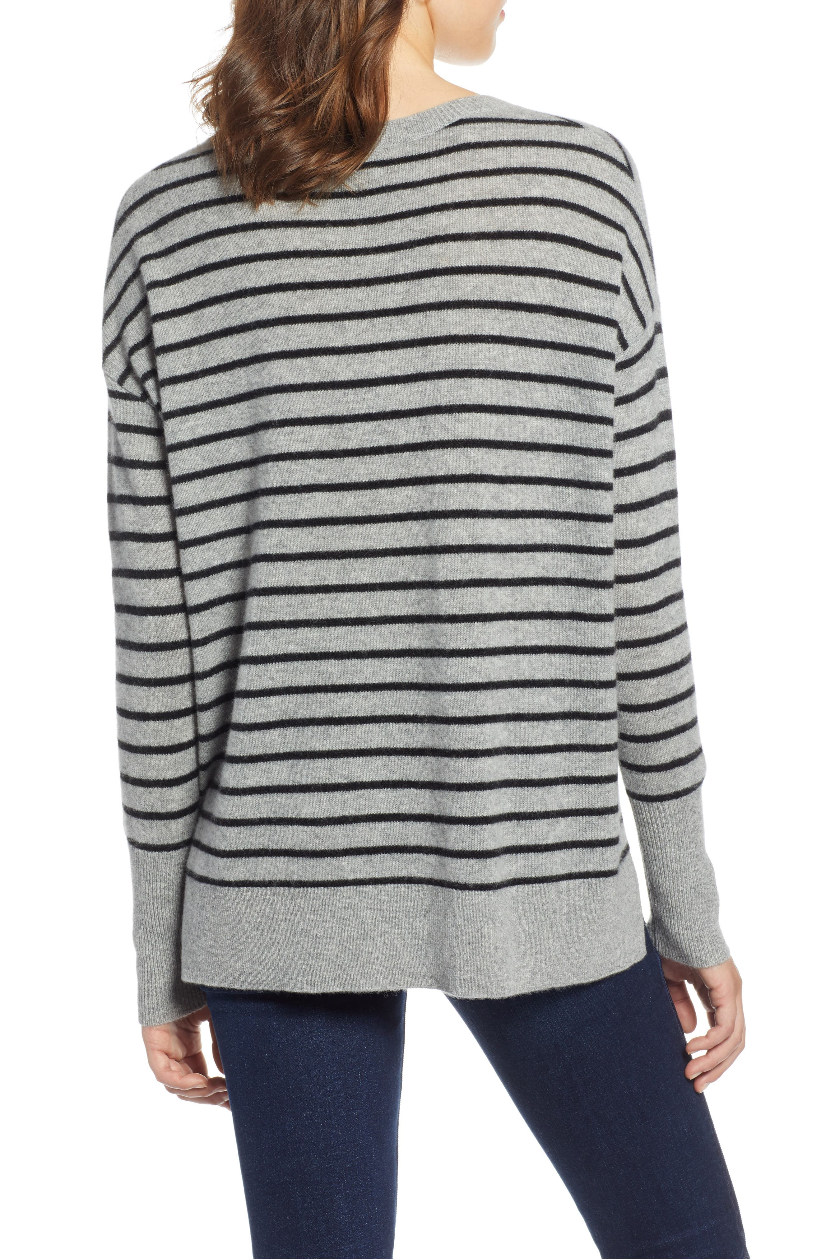 ,                             Relaxed V-Neck Cashmere Sweater,                             Alternate thumbnail 30, color,                             031
