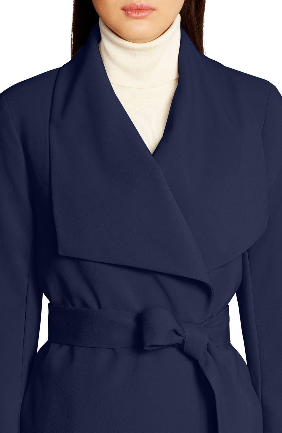 ,                             Belted Drape Front Coat,                             Alternate thumbnail 59, color,                             412