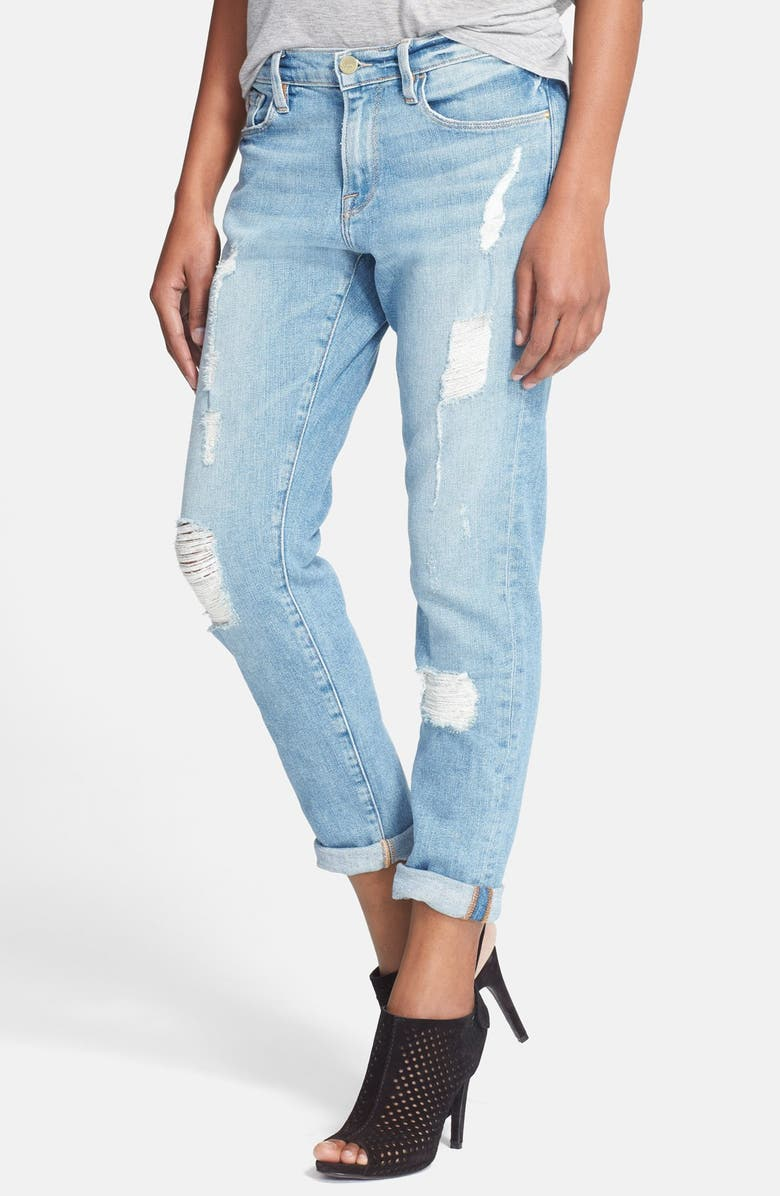 FRAME Denim 'Le Garcon' Boyfriend Jeans, Main, color, 400