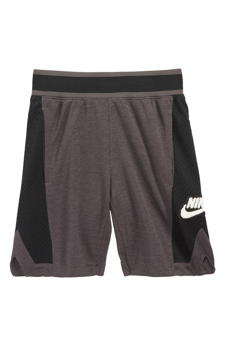 NIKE Dry Hoopfly Shorts, Main, color, THUNDER GREY/ BLACK