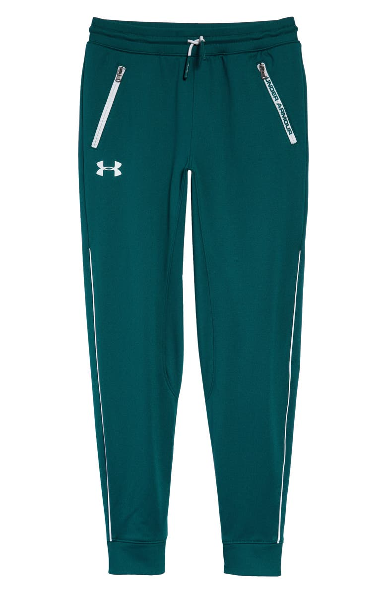 UNDER ARMOUR Pennant Tapered Sweatpants, Main, color, BLACKOUT TEAL/ HALO GRAY