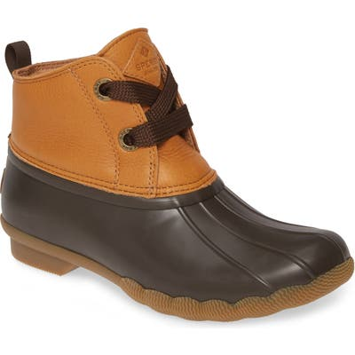 Sperry Saltwater Waterproof Rain Boot, Brown