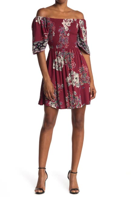 Image of Angie Floral Smocked Short Sleeve Dress